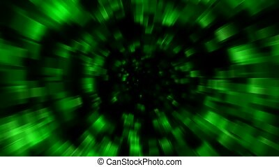 green blur light,time tunnel in...