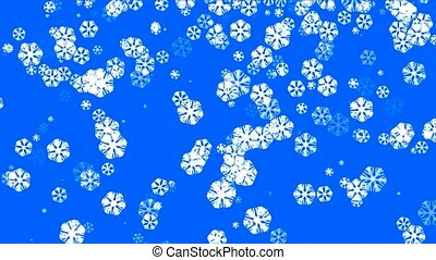 falling snowflake shaped flower...