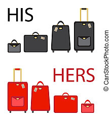 His and hers Clipart and Stock Illustrations. 546 His and ...