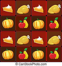 Apples and pears - A vector illustration of Thanksgiving...