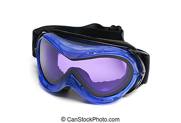 Ski goggles isolated on a white background