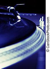 Piattaforma girevole, gioco, vinile, audio, disco