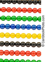 Abacus with colored beads
