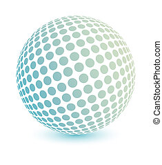 Multicolored globe vector - 3d multicolored globe made of...