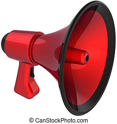 Megaphone attention colored red