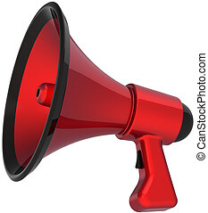 Megaphone hot news message - Megaphone communication...