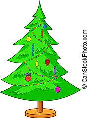 Fur-tree Christmas - Celebratory winter picture: a fur-tree...