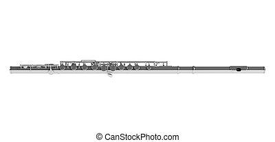 Concert flute or Transverse flute, Boehm flute, C flute...