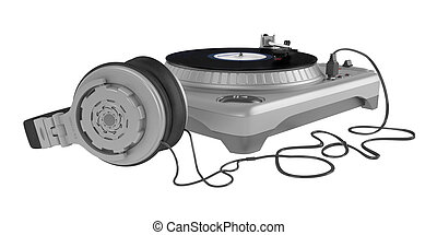 Turntable isolated on white background