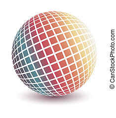 Multicolored globe vector - Multicolored globe vector in 3d...