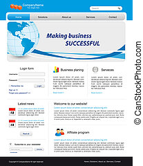 Business website template - Template for business website