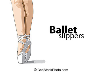 ballet slippers - vector ballet slippers on white background