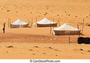 Bedouin tent in Sahara Desert, Africa