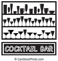 Cocktail bar black and white - A vector illustration for a...