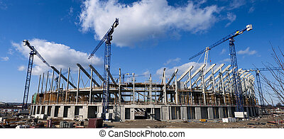 Building site of the Baltic Arena, football stadium -...