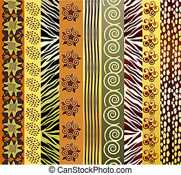 African fabric - A vector illustration of African fabric in...
