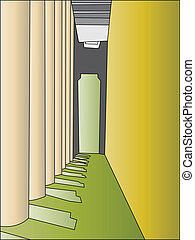 hallway - Vector graphic illustration of a hallway
