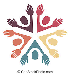 Colorful circle of people design.