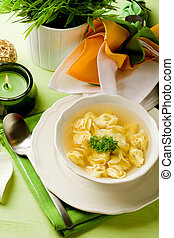 Tortellini in bouillon - photo of delicious tortellini in...