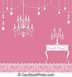 Candle frame - Illustration vector