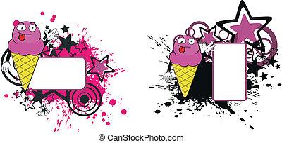 ice cream cartoon copyspace