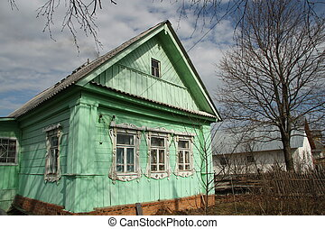 Country house - Traditional country house in Russian village