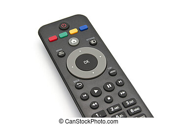 Media player remote control on white