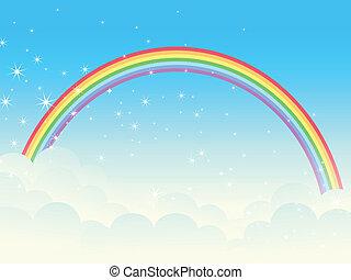 Shiny rainbow.