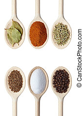 spice herbs food ingredients - collection of various food...