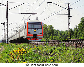 electric train - the image of Going electric train