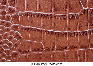 Brown leather texture - high resolution macro picture of...