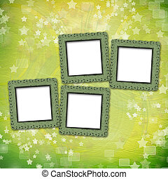 multicolored backdrop for greetings or invitations with frames