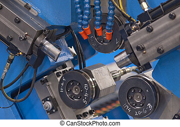 Machine shop - Industrial lathe in a hi tech machine shop