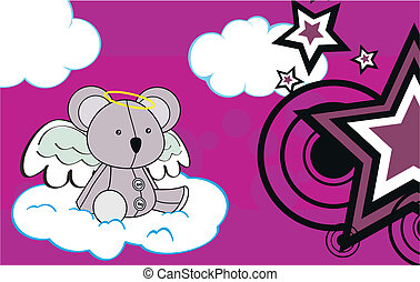 koala angel cartoon background 2 - koala angel cartoon...