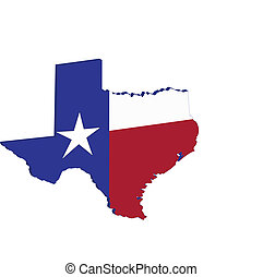 Texas State map flag - Texas state map flag