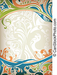 Abstract Frame Background - Illustration of abstract curve...
