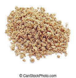soya flakes diet vegetarian food - close up of soya flakes...