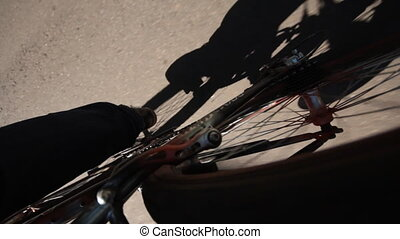 walk on the bicycle - walk on a bicycle or motorcycle in the...
