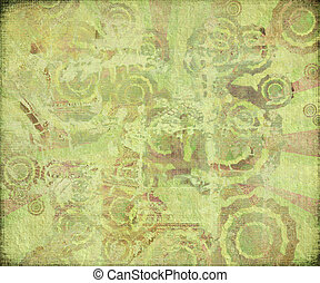 Oriental Dragon Abstract on Antique Background