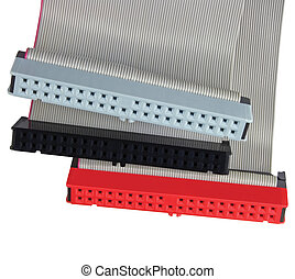 IDE connectors and ribbon cables for hard drive