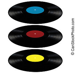Black vinyl lp album disc, isolated long play disk - Black...