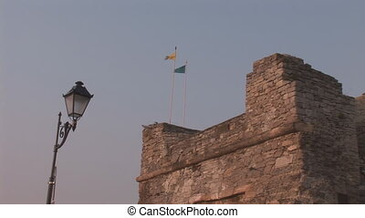 tower flag - Flags are flown on the tower