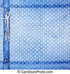 Abstract blue jeans background with rivet for design