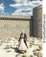 Templar Knight, Walls of Antioch