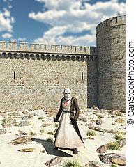 Templar Knight, Walls of Antioch - Early Medieval Templar...