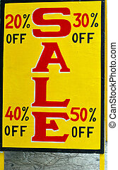 Sale sign displayed outdoors