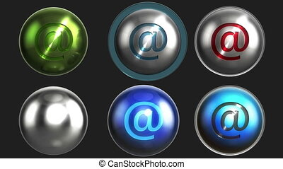 Shiny email\at buttons pack LOOP