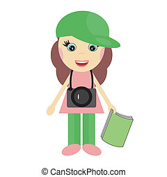 tourist girl with camera