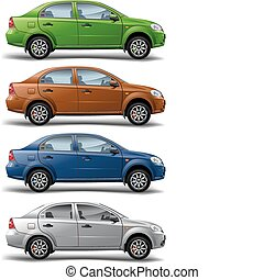 Cars - New model of vector autos on white background,...