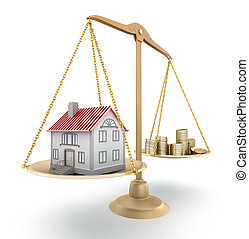 House price. 3D concept.